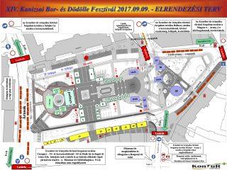 14. Kanizsai Bor- és Dödölle Fesztivál forgalmi rend változás