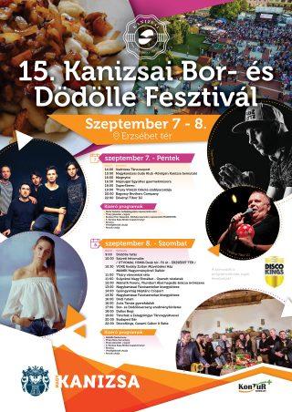 15. Kanizsai Bor- és Dödölle Fesztivál program